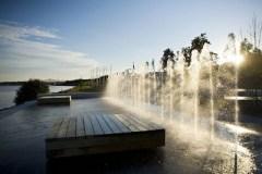 Les fontaines du Quai-des-Flots reprennent du service