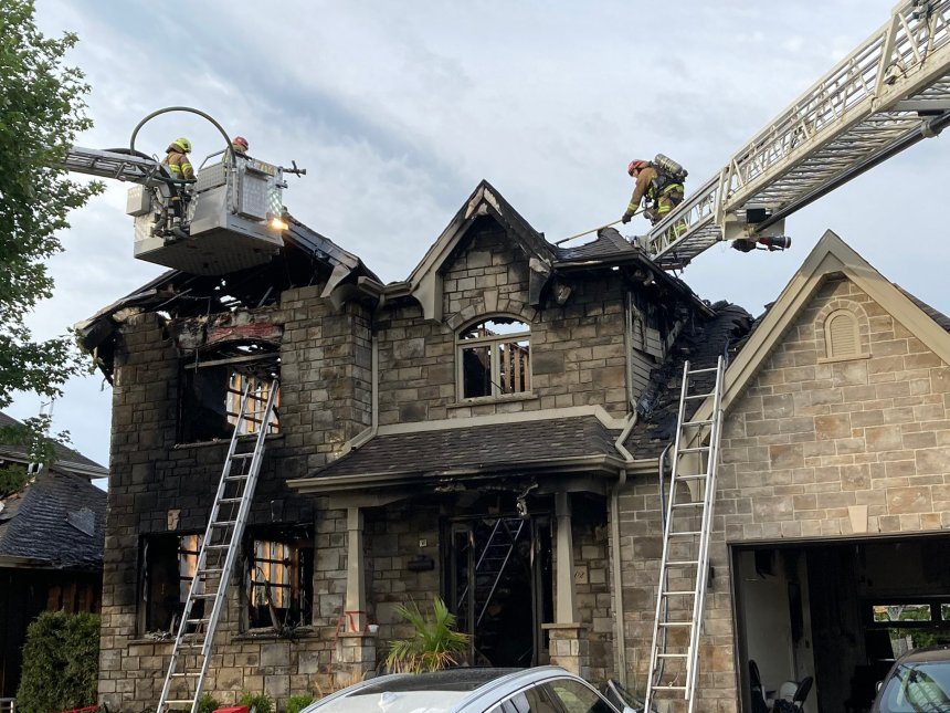 3e alarme incendie pour deux résidences sur la rue Zénith