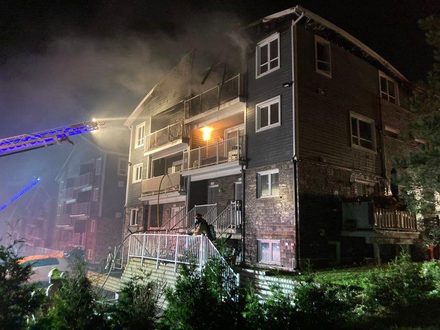 Incendie majeur dans un immeuble de l'avenue Lapierre