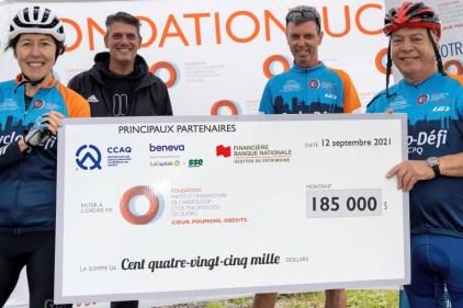 Record de dons pour le 12e Cyclo-Défi IUCPQ