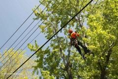Attention aux travaux près des lignes électriques