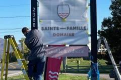 Nouvelle enseigne au Domaine Sainte-Famille