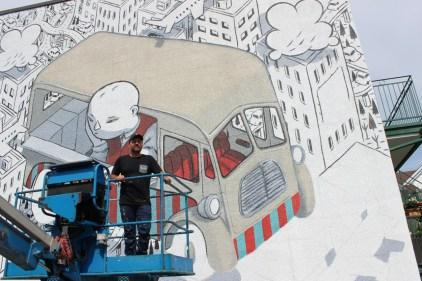 """Un murales """"italiano"""" per l'Avenue Mont-Royal"""