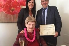 Yvonne Lavallière célèbre ses 102 ans!