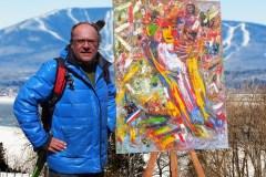 Ancien skieur acrobatique devenu artiste