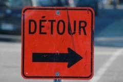 Fermetures de routes à prévoir
