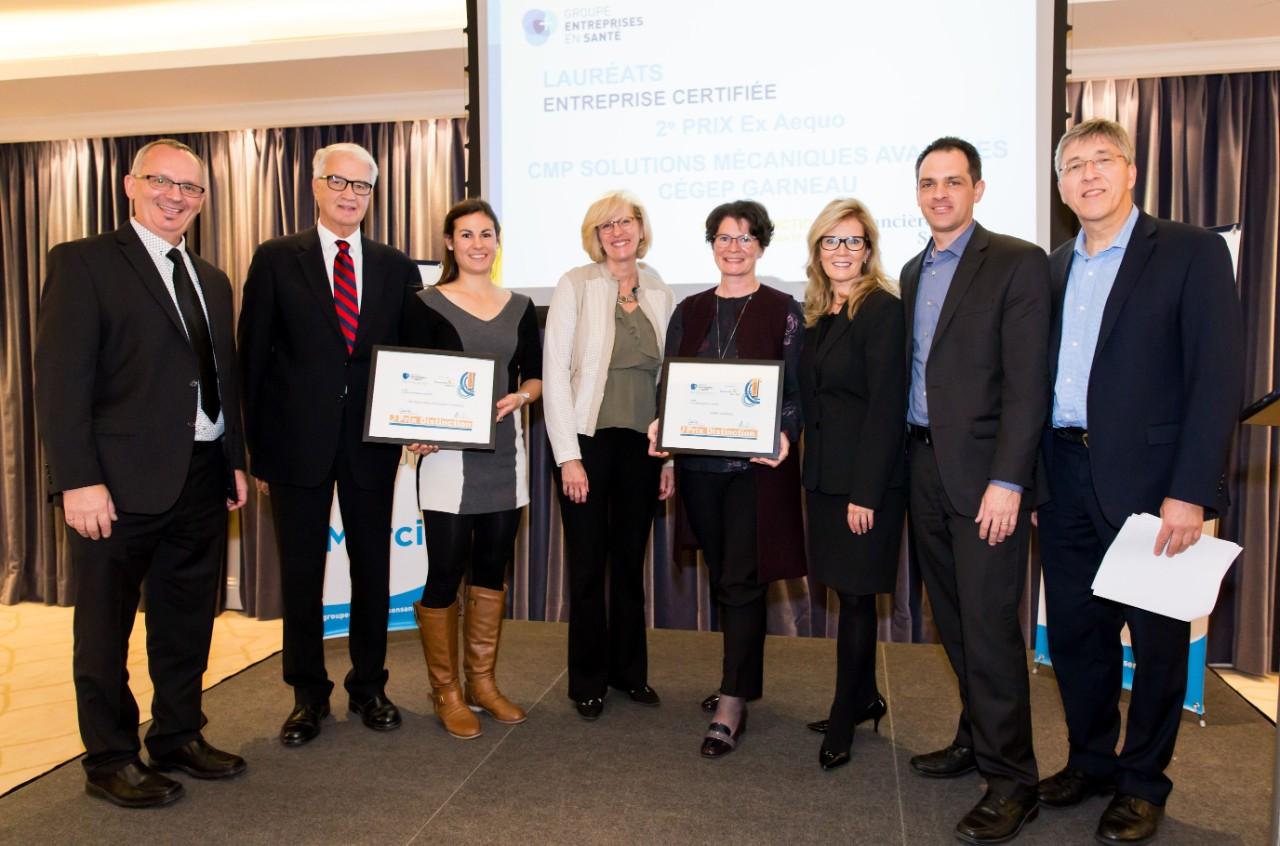 Le cégep garneau honoré par le groupe entreprises en santé u2013 quebec