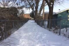 Sentiers piétons non déneigés à Québec
