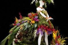 Des mannequins fleuris paradent à Place Sainte-Foy