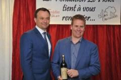 Un vin exceptionnel remis à Sylvain Paquet