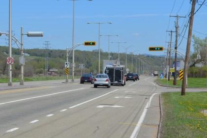Dernière séquence d'asphaltage