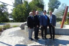 Inauguration du parc et de la fontaine de Place de L'Église