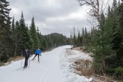 Déjà du ski à la Forêt Montmorency