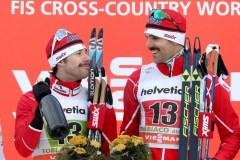 Alex Harvey et Len Valjas décrochent l'or au sprint par équipes à Toblach