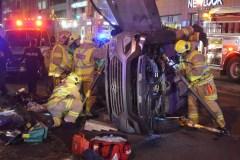 Accident spectaculaire sur le boulevard Charest