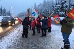 Manifestation à la base de Valcartier