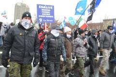 Groupes identitaires c. antifascistes: climat tendu dans le Vieux-Québec