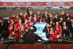 Soccer féminin : 4e titre provincial de suite pour le Rouge et Or