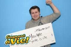 Maxime Sanschagrin: Gagnant à vie… à 18 ans!