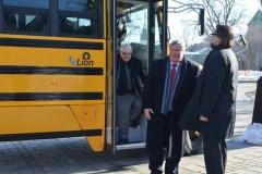 Des élèves de Beauport en autobus électrique