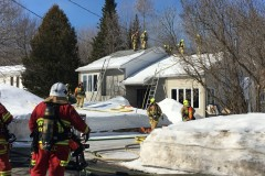 Incendie dans une résidence unifamiliale