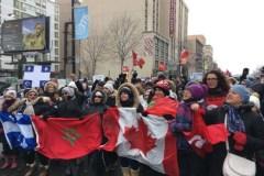 Les Montréalais marchent contre la haine