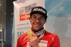 Alex Harvey de retour à Québec médaille au cou