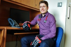 Bruno Turcotte, hockeyeur et futur médecin