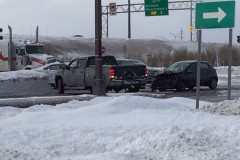 Accident au coin de Pierre-Bertrand et Bouvier