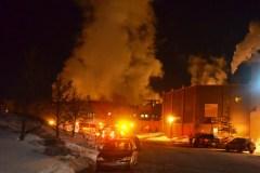 Incendie à l'usine White Birch