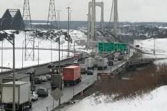 Circulation perturbée sur le pont Pierre-Laporte