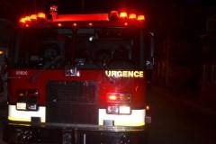 Deux personnes transportées en ambulance suite à un incendie