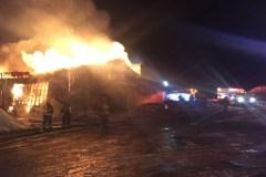 Incendie dans une usine de charbon à Sainte-Christine
