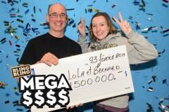 Deux collègues touchent 1,5 M$ à Méga $$$