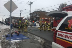 Intervention des pompiers dans un immeuble de Sainte-Foy