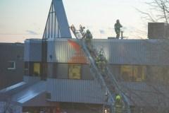 Les pompiers chez Postes Canada