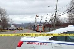 Danger électrique près du boulevard Pierre-Bertrand à Québec