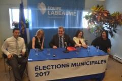 Trois nouveaux candidats et un retour chez Équipe Labeaume