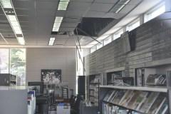 Le plafond de la bibliothèque Jean-Baptiste s'effondre
