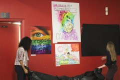 Vernissage contre l'homophobie à DeRochebelle