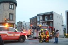 Incendie sur la rue Saint-Vallier ouest