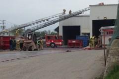 Incendie chez L.M. Métal Recyclage