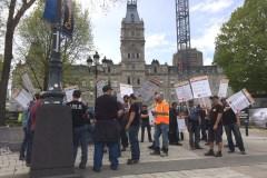 Construction: des milliers de travailleurs attendus devant le parlement