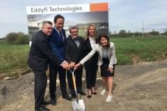 Première pelletée de terre pour le centre de recherche d'Eddyfi