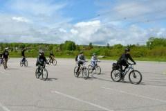 À vélo avec les policiers