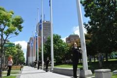 Levée du drapeau, parcours historique et visite du Parlement