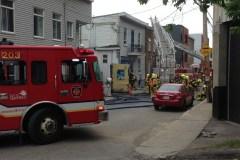 Incendie dans un duplex du quartier Saint-Sauveur