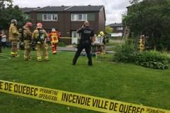 Une personne transportée en ambulance après un incendie