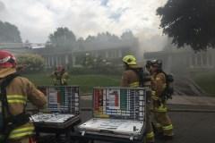 Deux résidences sous la proie des flammes sur l'avenue Dalquier
