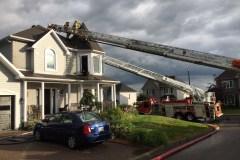 Une maison frappée par la foudre à Saint-Augustin
